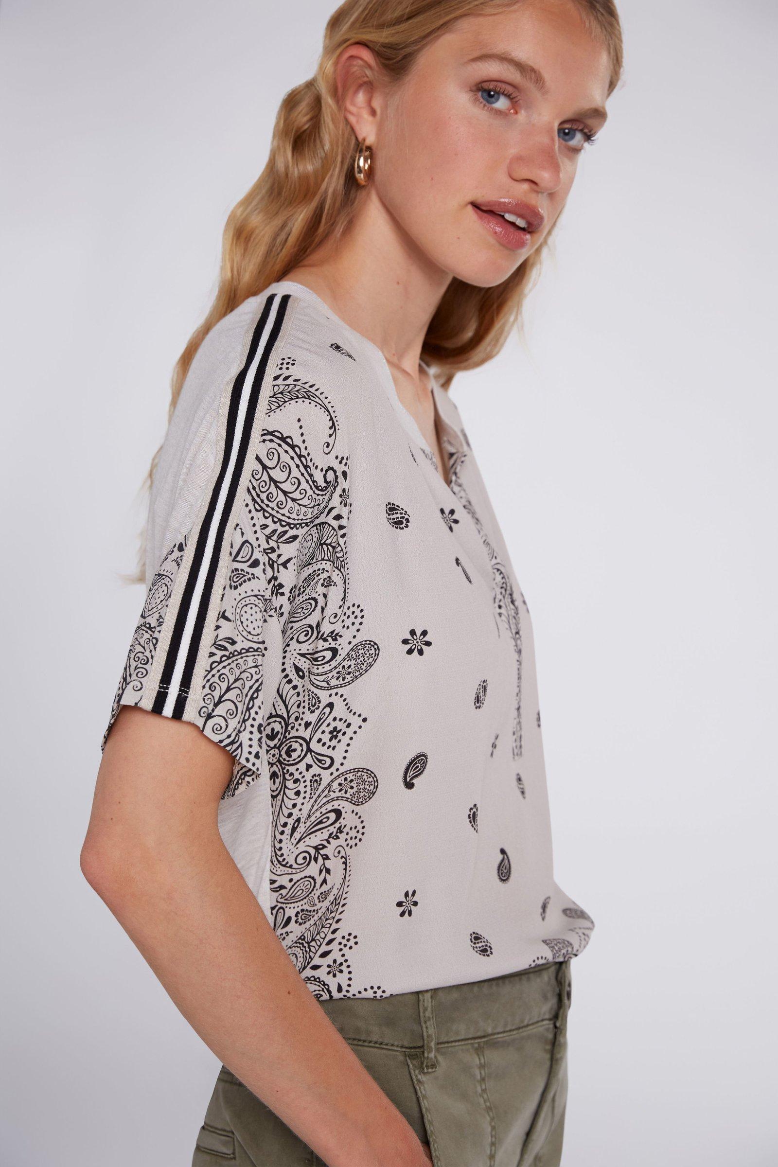 OUI Paisley Print Silky T-Shirt
