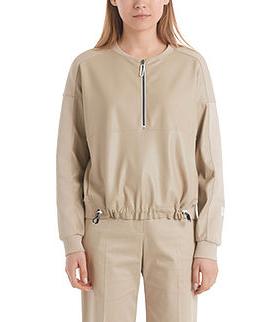 MARC CAIN Faux Leather Sweatshirt