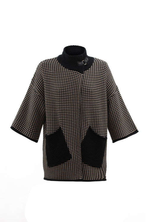 MARBLE Relaxed Chunky Knit Cardigan With Buckle