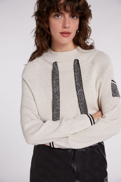 OUI Cotton Knit With Herringbone Detail