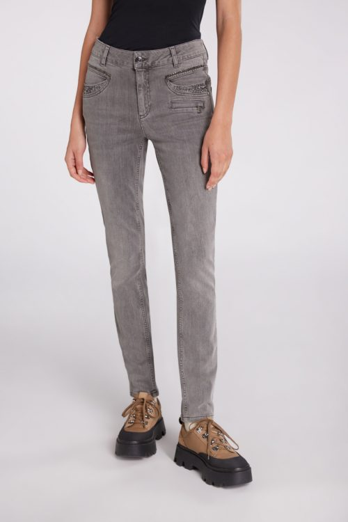 OUI 'Baxtor' Jeans With Stud & Sparkle Detail