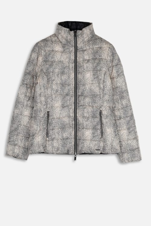 RINO & PELLE Reversible Leopard Print Quilted Jacket
