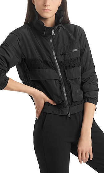 MARC CAIN Sporty Jacket With Lace Inserts
