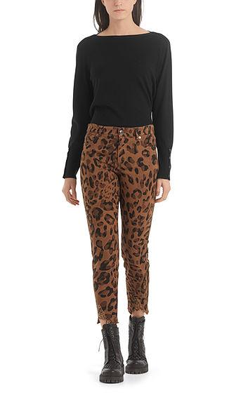 MARC CAIN Slim fit Leopard Print Jeans