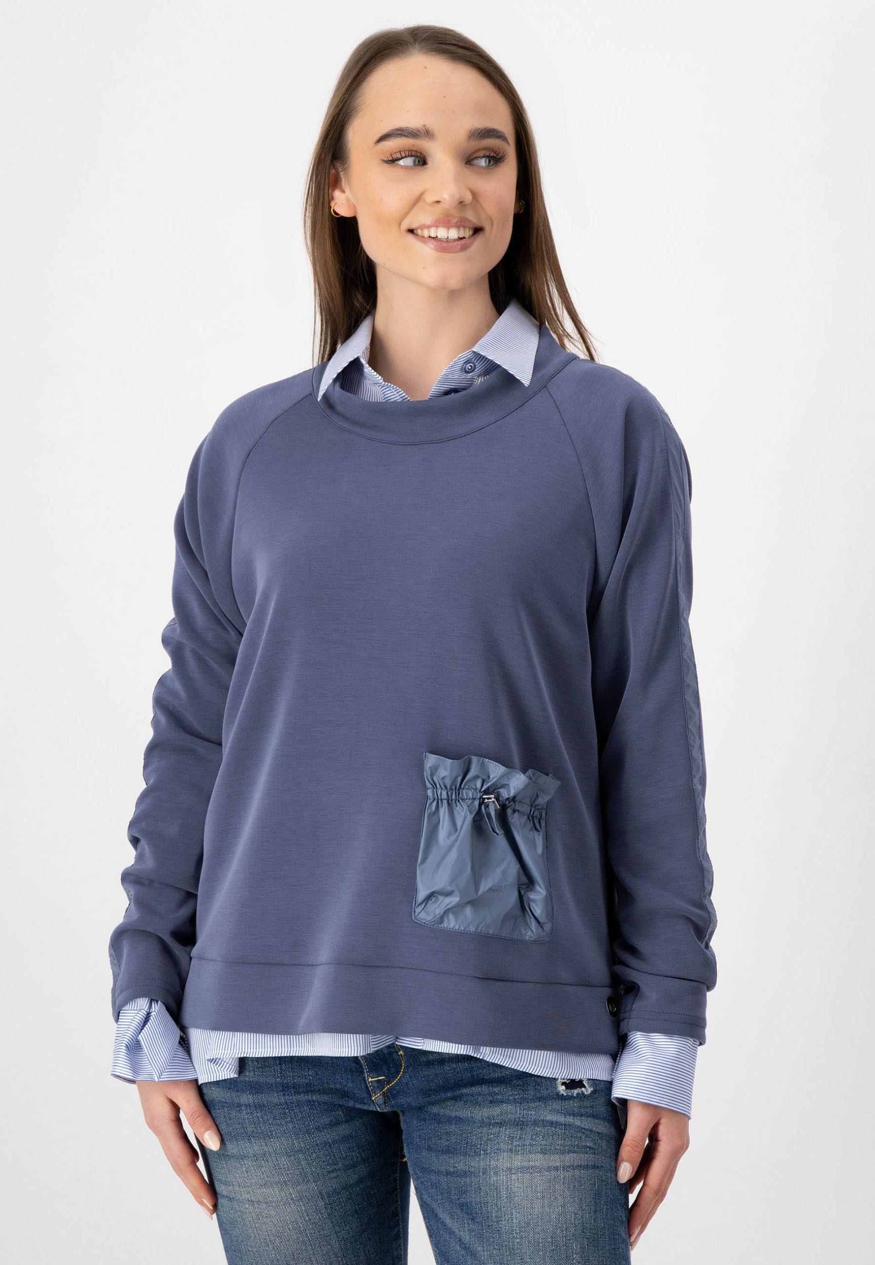 JUST WHITE Denim Blue Sweatshirt