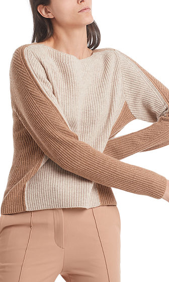 MARC CAIN 2-Tone Sweater With Cashmere