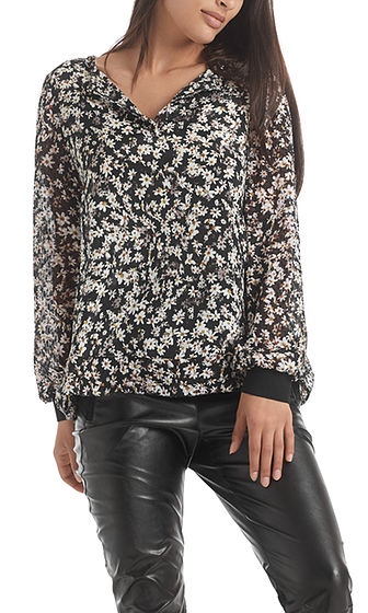 MARC CAIN Floral Blouse-Style Top