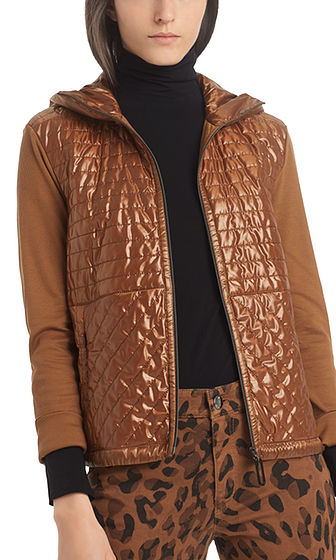 MARC CAIN Quilted Zip Jacket With Hood